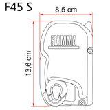 Fiamma F45 S - Polar weiss, plátno Deluxe grey