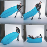 Vzduchový sedací vak -modrý
