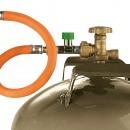 Regulátory,hadice,spojky,vedenie plynu