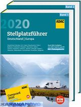 ADAC - Stellplatzfuhrer - Nemecko/ Európa 2018