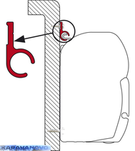 Alu lišta- na plochu 2,9m s kédrovým vstupom
