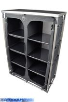 Šatníková skrinka-Cabinet 140 - tmavo šedá