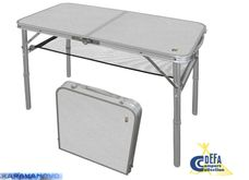 Skladací kempingový stolík 80x40 cm