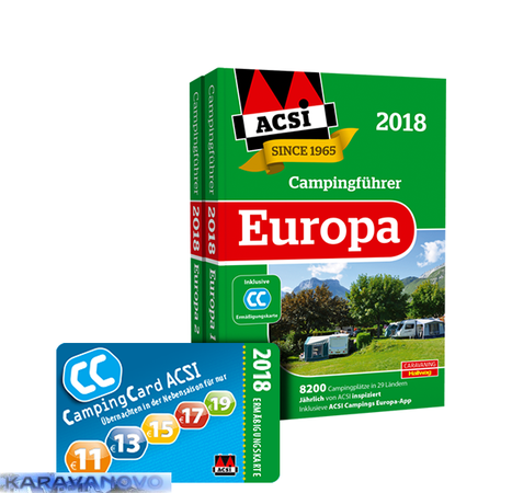 ACSI Campingfuhrer Europa 2018