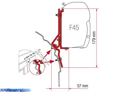 Kit F45 pre VW T4, Multivan / VW T4 Lift Roof