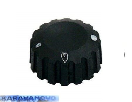Ovládací gombík pre sporáky Cramer, EK 85 a EK 96, čierny, 1 kus