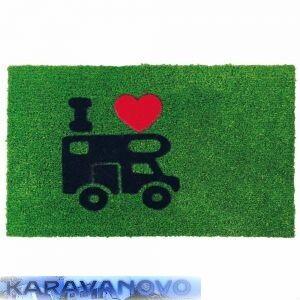 Rohožka obytné auto - zelená
