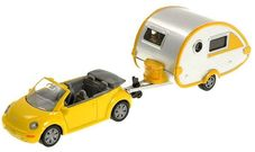 VW Beetle Cabrio s karavanom t@b
